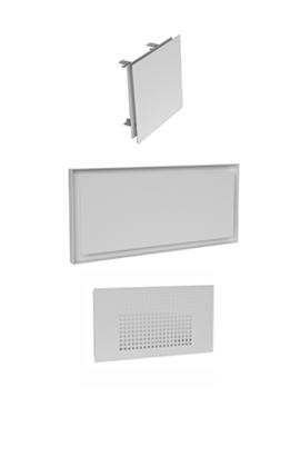 Screens FLAT series + grilles HRV
