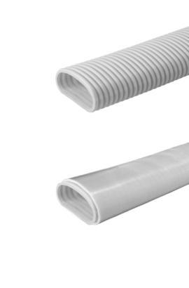 Sistema di distribuzione aria tubo semiovale per VMC