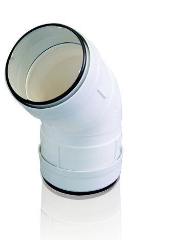 Vendita Curva verticale 45° per Tubo Tondo TUBPLA