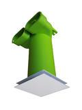 Vendita Diffusore FLAT a schermo piatto 140x140 per tubo DN125 regolabile