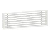 Vendita Griglia senza cornice a feritoie filo muro in pvc bianca Ral 9010
